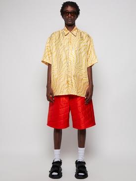 Silk Padded Bermuda Shorts Bitter Orange