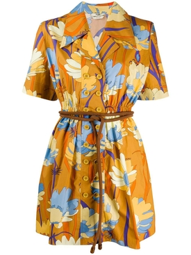 Fendi - Floral Belted Mini Dress - Women