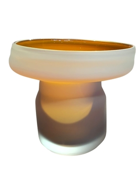 FUNGUS VASE, SHAPE 1, MATTE BEIGE & ORANGE