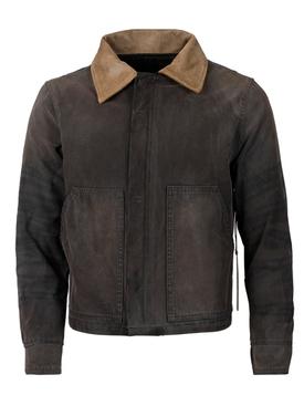 Canvas Work Jacket Vintage Black