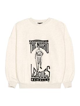 Negro Leagues Tribute Sweatshirt, Cream Heather