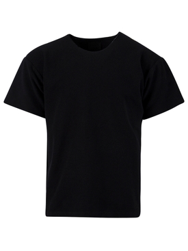 Inside Out Terry Tee, BLACK