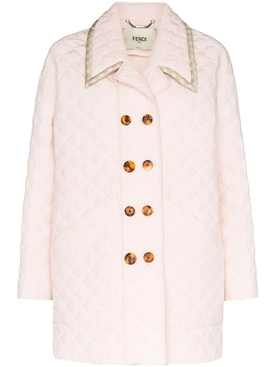 Fendi - Light Pink Quilted Jacket - Women