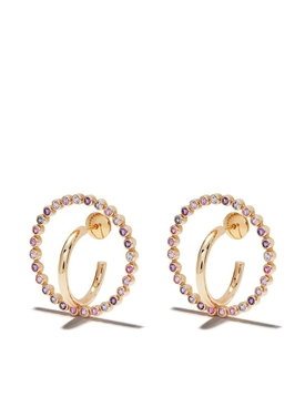 Pink Medium Saturn Earrings