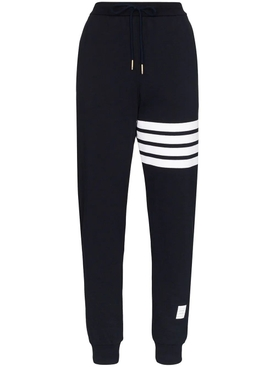 Four Bar Graphic Leg Sweatpants NAVY