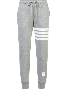 Four Bar Graphic Leg Sweatpants LIGHT GREY