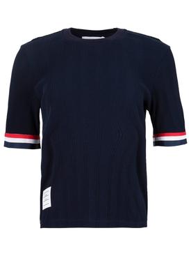 Short sleeve knit tee navy