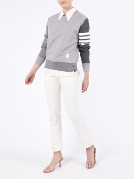 Grey relaxed-fit sweatshirt