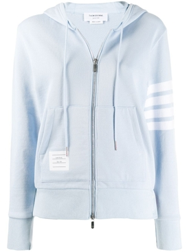 Thom Browne - Light Blue 4-bar Hoodie Jacket - Women