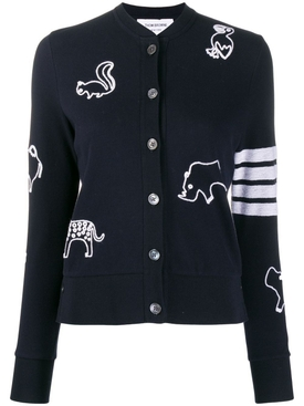 Animal Embroidered Cardigan