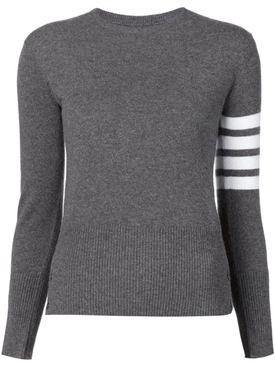 Medium Grey 4-Bar Striped Sweater