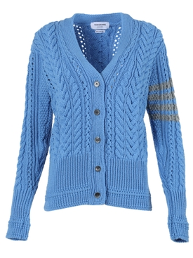 ARAN CABLE RELAXED V-NECK CARDIGAN