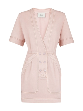 Rosewood Pink Denim Dress