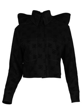 Karligraphy logo denim jacket