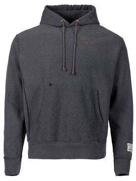 FRENCH HOODIE WASHED BLACK