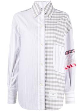 Stripe & Gingham Oversized Shirt