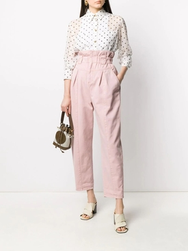 Light Pink High-Waisted Pants