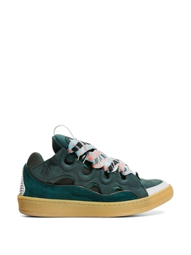 LOW-TOP CURB SNEAKERS Forest Green
