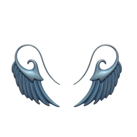 Blue Fly me to the Moon Wing Earrings