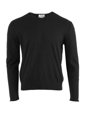 Crew-neck Knit Sweater BLACK
