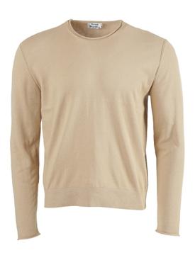 Crew-neck Knit Sweater ECRU BEIGE