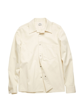 Classic Button-Down Cotton Shirt ECRU BEIGE