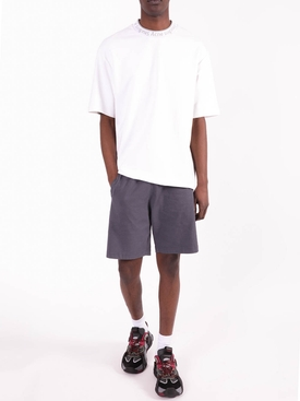 Reversed Cotton Logo Shorts SLATE GREY