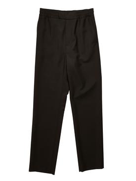 Regular-fit Wool Pants BLACK