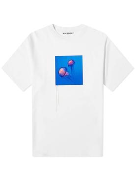 Jellyfish Crewneck T-Shirt Optic White