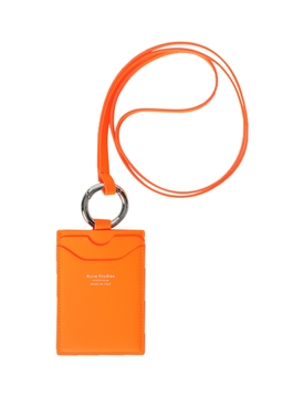 Neon Orange Logo Lanyard