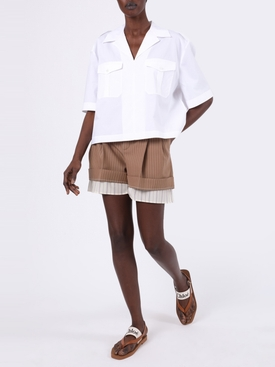 White Poplin Button-Down Shirt