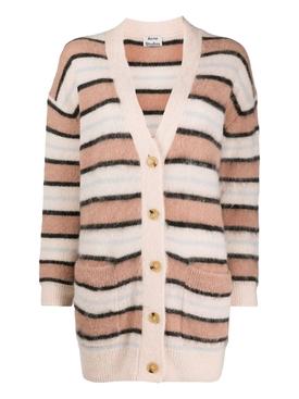 Salmon pink alpaca wool cardigan
