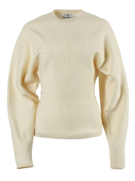 Over-sized Ivory crewneck sweater