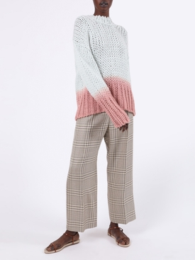 Ombré Dip Dye Knit Sweater WHITE/ PINK