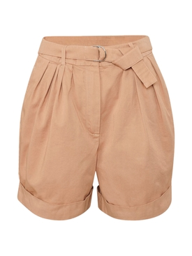 Acne Studios - Beige Pleated Cuffed Shorts - Women