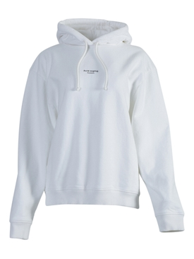 Contrasting Printed Logo Hoodie OPTIC WHITE