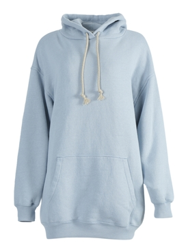 Powder blue label hoodie