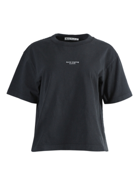Boxy Contrasting Logo T-shirt BLACK