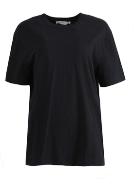 Over-sized Embroidered Logo T-shirt BLACK