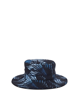MOONLIT PALM PRINT BUCKETHAT BLUE