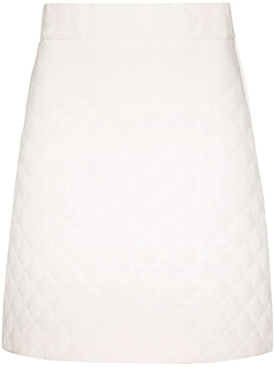 High-waisted Silk Quilted Skirt