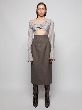 Wool High-waisted Pencil Skirt Grey