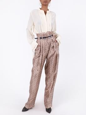 FF logo silk belted pants