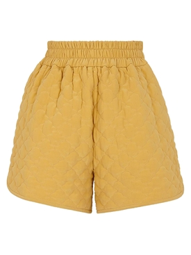 Fendi - Silk Yellow Quilted Shorts - Women