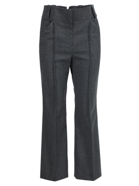Dark grey wool trousers