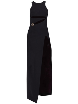 Fausto Puglisi - Black Cut-out Stud Embellished Gown - Women