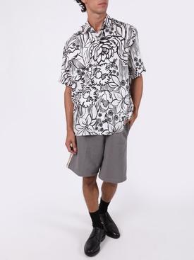 X Joshua Vides Black and white floral print shirt