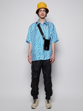 X Sarah Coleman Silk FF Vertigo Commercial Over Shirt Turquoise