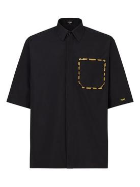 Short sleeve shirt black and yellow