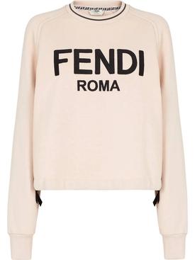 Roma Logo Sweater Snake Pink